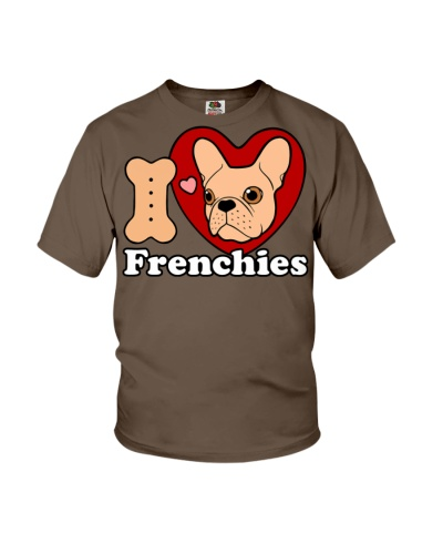 I Love Frenchies design for all the Frenchie Lover
