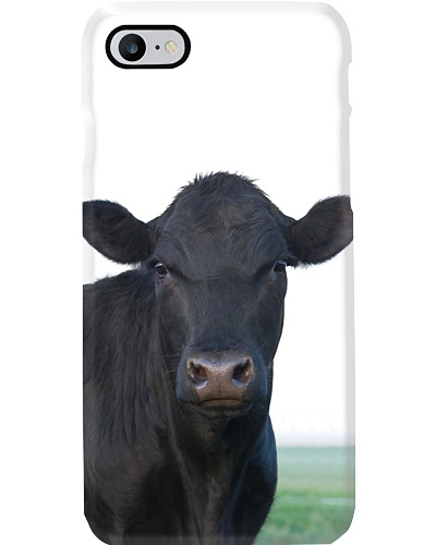 LOOKING BLACK CATTLE PHONECASE