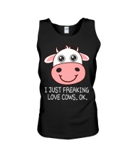 I JUST FREAKING LOVE COWS OK Unisex Tank thumbnail