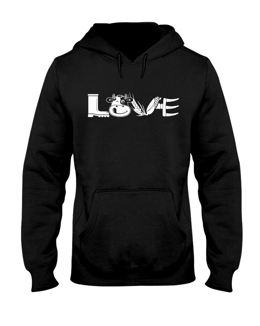 COW LOVE Hooded Sweatshirt