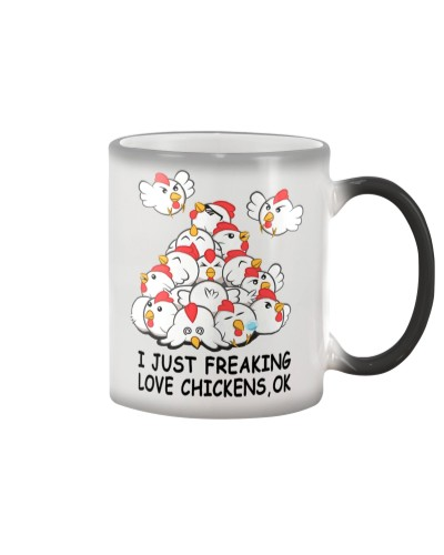 I JUST FREAKING LOVE CHICKEN COLOR CHANGING MUG
