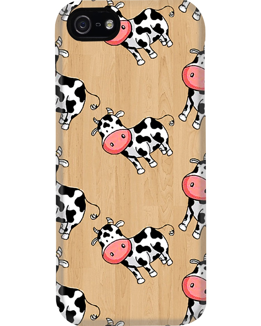CUTE FUNNY COW ON WOODEN COLOR CASE