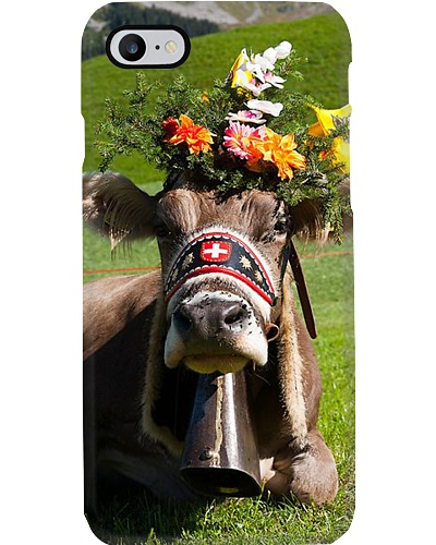 COWS FLOWERS CROWN PHONECASE