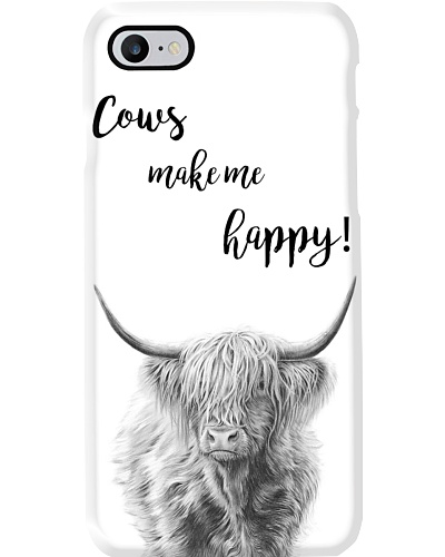 COW MAKES ME HAPPY PHONECASE