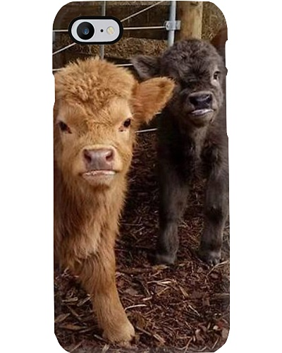 CUTE HIGHLAND CALF PHONECASE