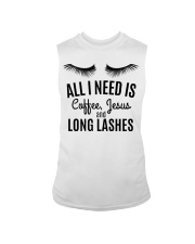 All I Need Is Coffee Jesus and Long Lashes T-shirt Sleeveless Tee thumbnail
