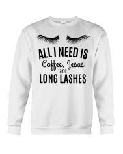All I Need Is Coffee Jesus and Long Lashes T-shirt Crewneck Sweatshirt thumbnail