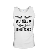 All I Need Is Coffee Jesus and Long Lashes T-shirt Unisex Tank thumbnail