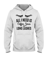 All I Need Is Coffee Jesus and Long Lashes T-shirt Hooded Sweatshirt thumbnail
