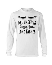 All I Need Is Coffee Jesus and Long Lashes T-shirt Long Sleeve Tee thumbnail