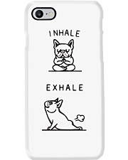 Frenchie yoga inhale exhale Phone Case thumbnail
