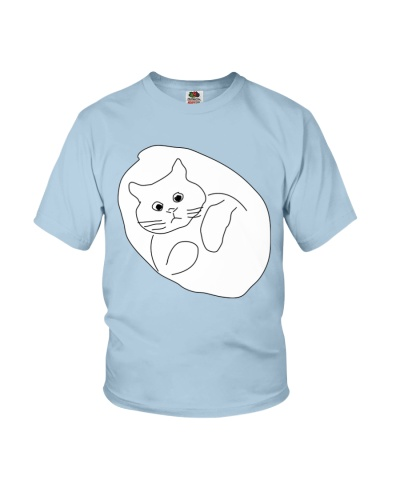 Ugly Draw Cat Youth T-shirt for children