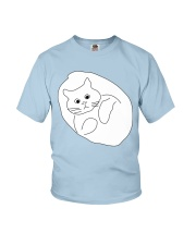 Ugly Draw Cat Youth T-shirt for children Youth T-Shirt front