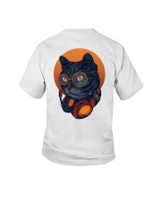 Cat Music Young T-shirt for Children Youth T-Shirt back