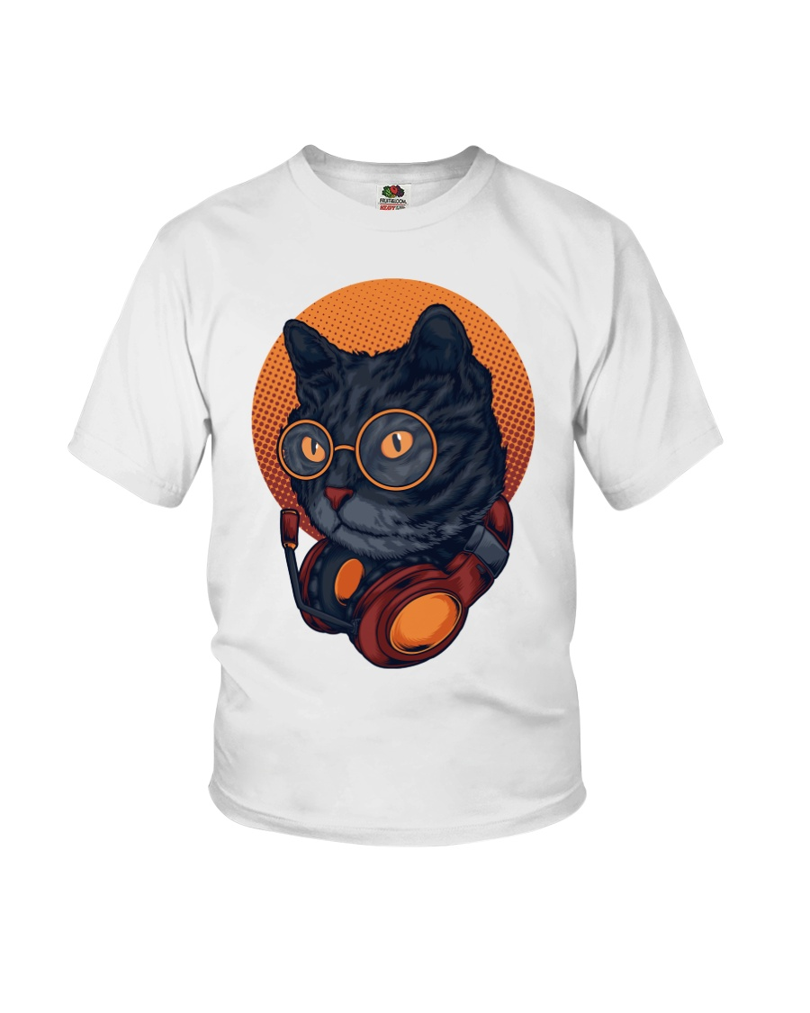 Cat Music Young T-shirt for Children Youth T-Shirt