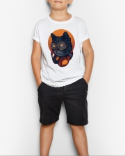 Cat Music Young T-shirt for Children Youth T-Shirt lifestyle-youth-tshirt-front-1