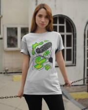 Black cat Hide and seek T-shirt  Classic T-Shirt apparel-classic-tshirt-lifestyle-19