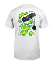 Black cat Hide and seek T-shirt  Classic T-Shirt back