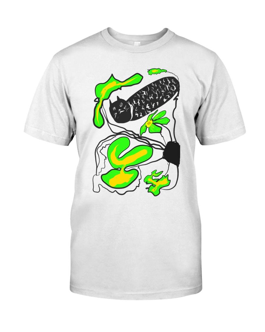 Black cat Hide and seek T-shirt  Classic T-Shirt