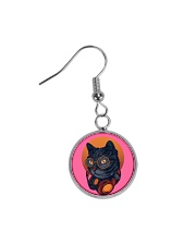 Cat Music Jewelry Circle Earrings thumbnail