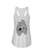 Ugly Draw Dog T-shirt Designs Ladies Flowy Tank tile
