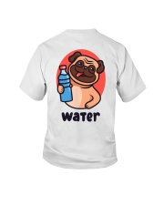 Pug drink water Cartoon Youth T-shirt for children Youth T-Shirt back