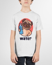 Pug drink water Cartoon Youth T-shirt for children Youth T-Shirt garment-youth-tshirt-front-01