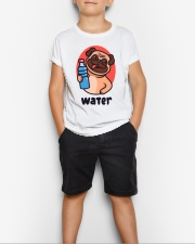 Pug drink water Cartoon Youth T-shirt for children Youth T-Shirt lifestyle-youth-tshirt-front-1