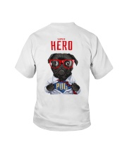 Pug Super Hero Youth T-shirt for Children  Youth T-Shirt back