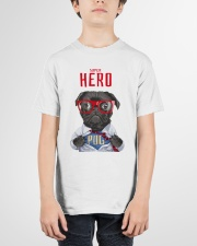 Pug Super Hero Youth T-shirt for Children  Youth T-Shirt garment-youth-tshirt-front-01