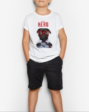 Pug Super Hero Youth T-shirt for Children  Youth T-Shirt lifestyle-youth-tshirt-front-1
