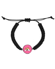 Ugly Shiba inu Happy Face Cord Circle Bracelet tile