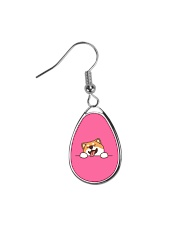 Ugly Shiba inu Happy Face Teardrop Earrings thumbnail