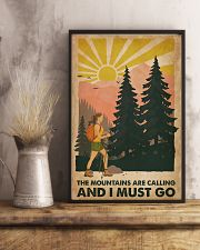 Hiking The Mountains Are Calling 16x24 Poster lifestyle-poster-3