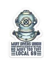 Scuba Muff Divers Union Sticker - Single (Vertical) front
