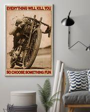 Biker So Choose Something Fun 16x24 Poster lifestyle-poster-1