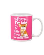 Corgi Sorry I'm late Mug thumbnail