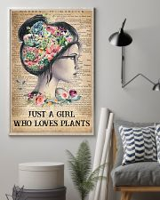 Garden Just A Girl Who Loves Plants 16x24 Poster lifestyle-poster-1