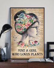 Garden Just A Girl Who Loves Plants 16x24 Poster lifestyle-poster-2