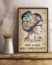 Garden Just A Girl Who Loves Plants 16x24 Poster lifestyle-poster-3