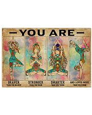 Yoga You Are Brave 36x24 Poster front