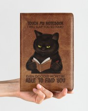 Touch My Notebook Medium - Leather Notebook aos-medium-leather-notebook-lifestyle-front-01