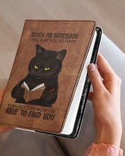 Touch My Notebook Medium - Leather Notebook aos-medium-leather-notebook-lifestyle-front-05