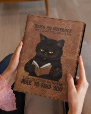 Touch My Notebook Medium - Leather Notebook aos-medium-leather-notebook-lifestyle-front-07