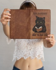 Touch My Notebook Medium - Leather Notebook aos-medium-leather-notebook-lifestyle-front-12