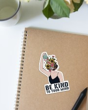 Mental Be Kind To Your Mind Sticker - Single (Vertical) aos-sticker-single-vertical-lifestyle-front-16