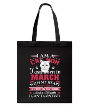 Cat mom Tote Bag tile