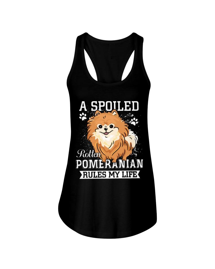 Pomeranian Ladies Flowy Tank