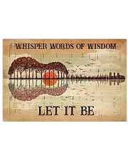 Hippie Let It Be 36x24 Poster front