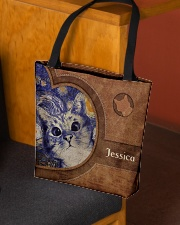 Starry Night Cat Leather Pattern Print All-over Tote aos-all-over-tote-lifestyle-front-02